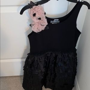 Elisa B ruffled black girl special occasion dress